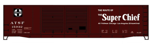Accurail HO 81072 50' Steel Box Car Double Door Kit, Santa Fe (Super Chief) #15932