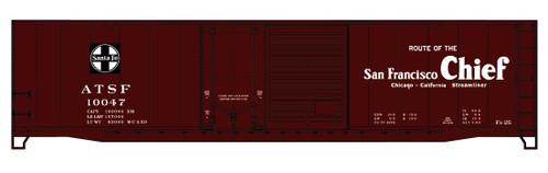 Accurail HO 81073 50' Steel Box Car Combination Door Kit, Santa Fe (San Fransisco Chief) #10047