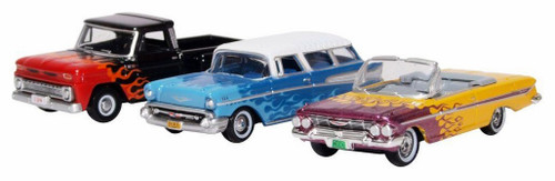 Oxford Diecast HO 87SET001 Chevrolet Hot Rods (3)