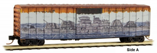 Micro-Trains N 02544017 50' Rib Side Box Car with Single Door, Railbox (Pearl Harbor Graffiti)