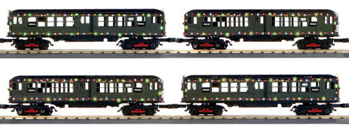 MTH RailKing O 30-20534-1 LO-V 4-Car Subway Set with LED Lights, Metropolitan Transportation Authority