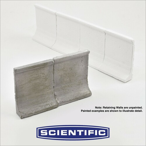 Micro-Mark HO 88393 Concrete Retaining Walls by Scientific (4-Pack)