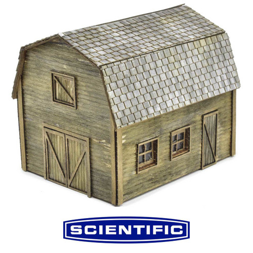 Micro-Mark HO 88347 Rural Tractor Shed with Hayloft Kit by Scientific