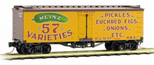 Micro-Trains N 05800051 36' Wood Sheathed Ice Reefer with Truss Rods, Heinz Car #5