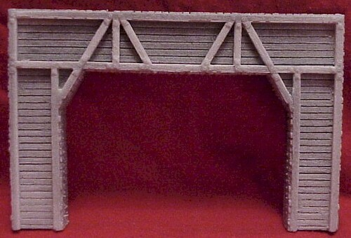 Pre-Size Model Specialties HO 102 Timber Tunnel Portal for Double Track