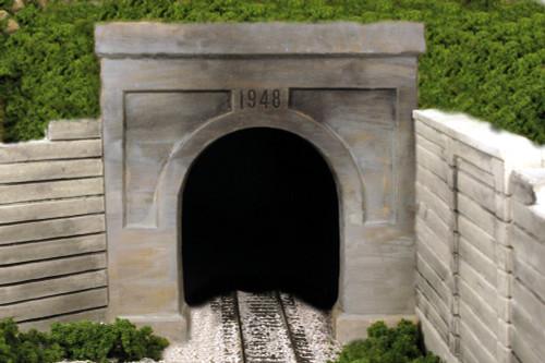 Monroe Models HO 133 Single Track Tunnel Portal, Modern Concrete