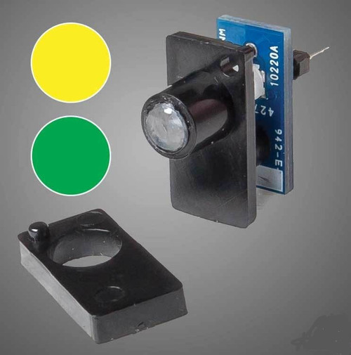 Walthers 942-151 Walthers Layout Control System, Dual Color LED Fascia Indicator (Yellow/Green)