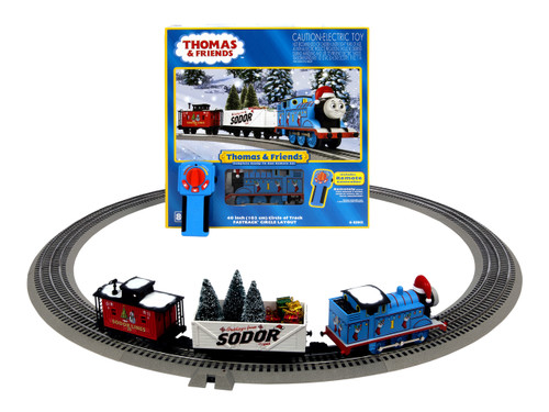 Lionel O 6-85324 Thomas and Friends Christmas Freight LionChief Set with Bluetooth