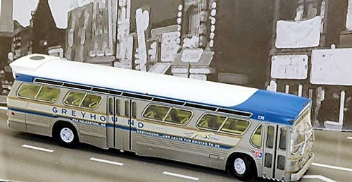 Rapido HO 701083 New Look Bus, Greyhound (1964 New York World's Fair) #236 (Extremely Limited Run)