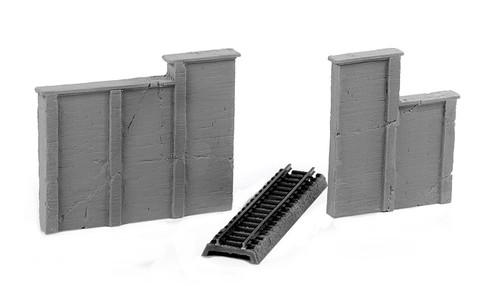 Ztrains Scale Models Z ZTR-160 Aged Concrete Retaining Walls