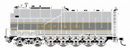Athearn Genesis HO G15998 Centipede Coal Tender, Union Pacific (Two-Tone Gray/Yellow)