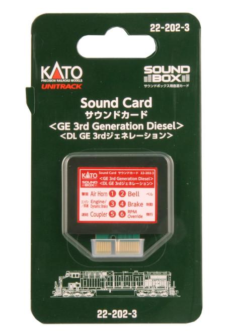 Kato HO/N 22202-3 Soundbox Sound Card, GE 3rd Generation Diesel