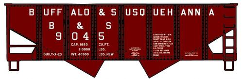 Accurail HO 24291-9045 USRA Twin Hopper Kit, Buffalo and Susquehanna #9045