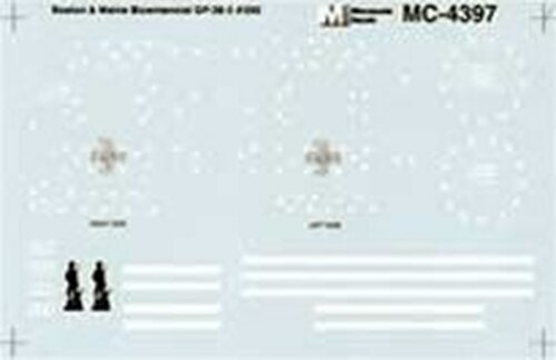 Microscale HO MC-4397 Boston and Maine GP-38-2 #200 Diesel (d) (d)