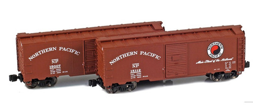 American Z Line Z 904379-1 40' AAR Box Cars, Northern Pacific (2-Pack)