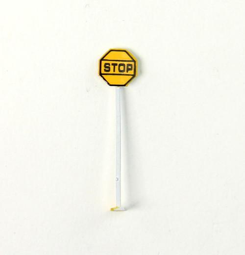 N.J. International HO 1250 Railroad Stop Signs (Pack of 2)