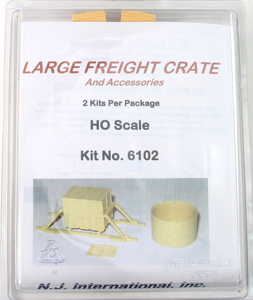 N.J. International HO 6102 Large Freight Crate and Accessories Kit (2)