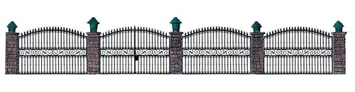 Walthers Cornerstone HO 933-550 Wrought Iron Fence Kit