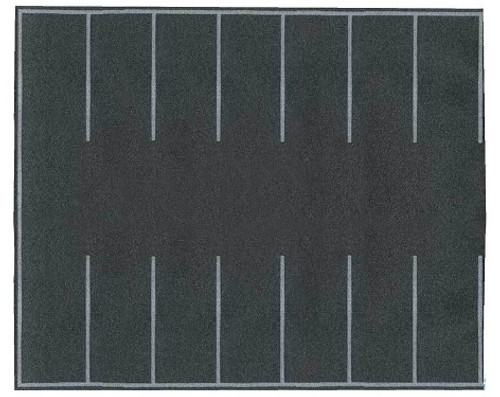 Walthers SceneMaster HO 949-1260 Flexible Self-Adhesive Paved Parking Lot, 7-7/8 x 6-3/16""