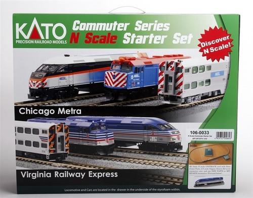 Kato N 1060033 Virginia Railway Express MP36PH Commuter Series Starter Set