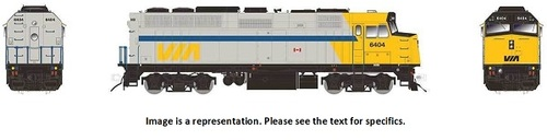 Rapido HO 80050 EMD F40PH-2D, Via Rail Canada (As-Delivered) #6449
