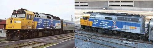 Rapido HO 80059 EMD F40PH-2D, Via Rail Canada (Operation Lifesaver Scheme) #6411