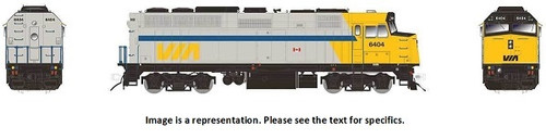Rapido HO 80550 EMD F40PH-2D, Via Rail Canada (As-Delivered) #6449 (DCC and LokSound Equipped)