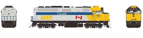 Rapido HO 80551 EMD F40PH-2D, Via Rail Canada (Canada Scheme with Large Flag) #6413 (DCC and LokSound Equipped)