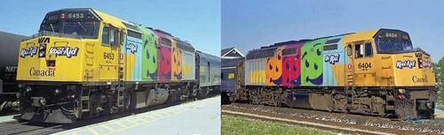 Rapido HO 80555 EMD F40PH-2D, Via Rail Canada (2000 Kool-Aid Scheme) #6405 (DCC and LokSound Equipped)