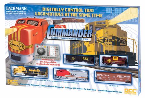 Bachmann HO 00501 Digital Commander Train Set Featuring E-Z Command Control Center