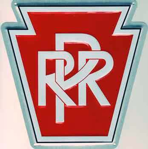 "Microscale 10001 Pennsylvania Railroad 8"" Keystone Embossed Aluminum Sign"