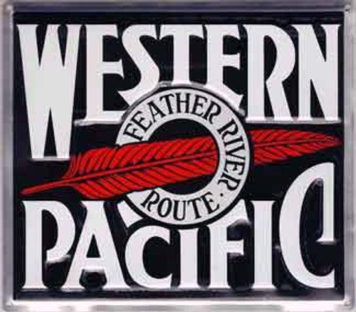 """Microscale 10008 Western Pacific 8"""" Square Embossed Aluminum Sign"""