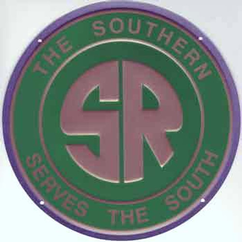 """Microscale 10009 Southern Railway 8"""" Round Embossed Aluminum Sign"""