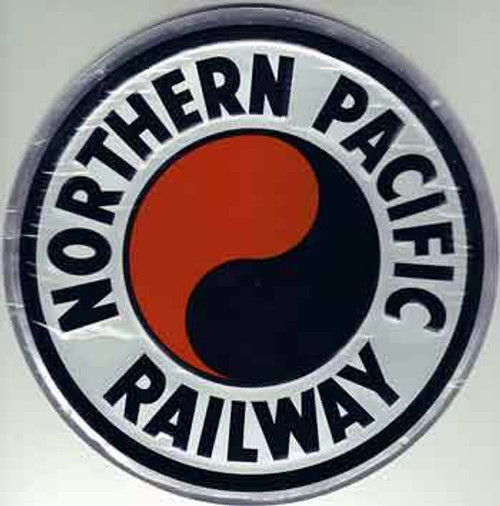 "Microscale 10013 Northern Pacific 8"" Round Embossed Aluminum Sign"