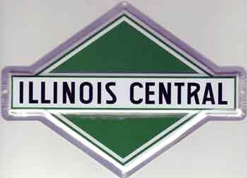 "Microscale 10015 Illinois Central 8"" x 5-1/2"" Diamond Embossed Aluminum Sign"