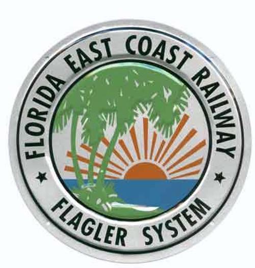 "Microscale 10016 Florida East Coast 8"" Round Embossed Aluminum Sign"