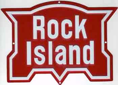 "Microscale 10017 Rock Island 7-1/4"" x 5-3/4"" Embossed Aluminum Sign"