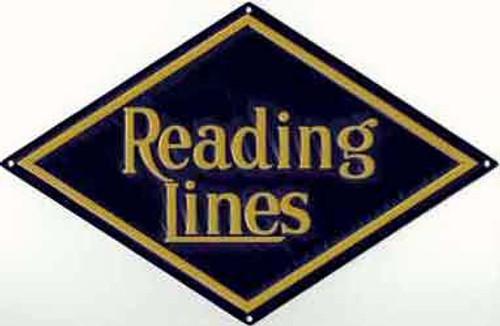 "Microscale 10018 Reading Lines 10-1/2"" x 7"" Diamond Embossed Aluminum Sign"