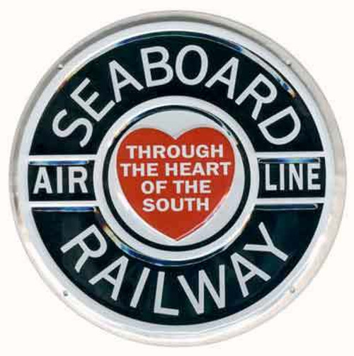"""Microscale 10019 Seaboard Air Line 8"""" Round Embossed Aluminum Sign"""