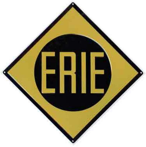 "Microscale 10021 Erie 8"" Diamond Embossed Aluminum Sign"