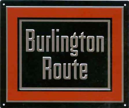 """Microscale 10023 Burlington Route 8"""" x 6-3/4"""" Rectangular Embossed Aluminum Sign"""