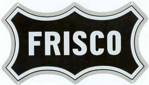 "Microscale 10028 Frisco 8"" x 5"" Embossed Aluminum Sign"