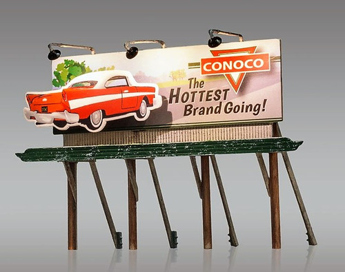 "Woodland Scenics HO JP5793 Just Plug Conoco ""The Hottest Brand Going"" Billboard"