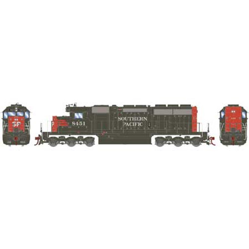 """Athearn HO 86724 SD40, Southern Pacific (Red/Grey, """"SP"""" on Nose) #8451"""