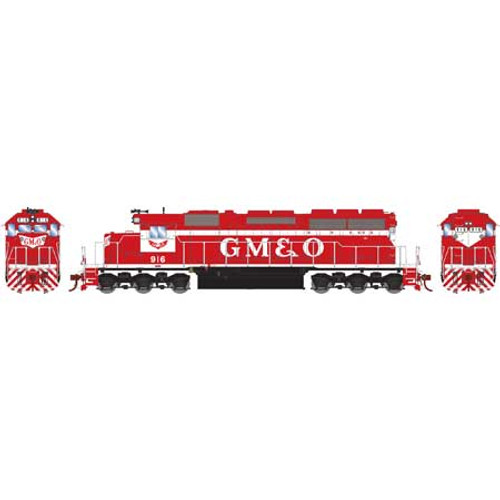 Athearn HO 86827 SD40, Gulf Mobile and Ohio (Red/White) #916 (DCC and Sound Equipped)