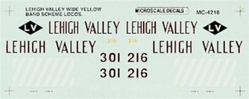 Microscale N 60-4218 Lehigh Valley Wide Yellow Band Scheme Locomotives (1971-1974) (d)