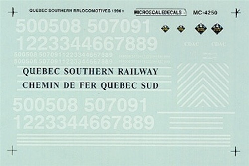 Microscale N 60-4250 Quebec Southern Hood Locomotives (1996+) (d)