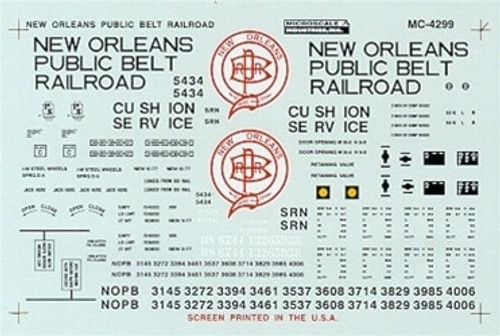 Microscale N 60-4299 New Orleans Public Belt 50' Outside Post Box Car (1977+) (d)