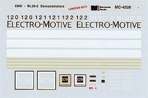 Microscale N 60-4326 EMD BL20-2 Demonstrator Units (d)