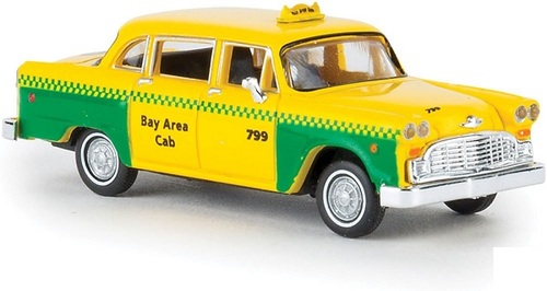 Brekina HO 58925 1950s-1982 Checker Taxi Cab, San Francisco